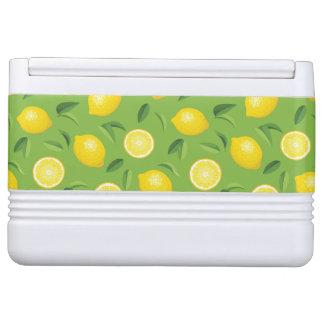 Lemons Background Pattern Igloo Cooler