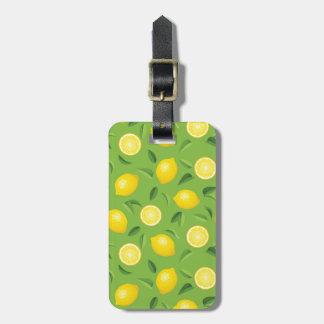 Lemons Background Pattern Luggage Tag