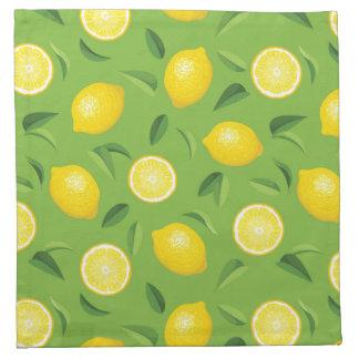 Lemons Background Pattern Napkin
