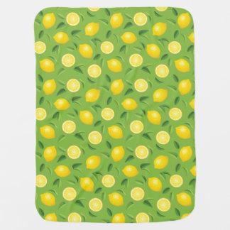 Lemons Background Pattern Receiving Blanket