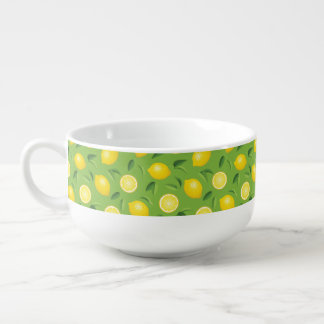 Lemons Background Pattern Soup Mug