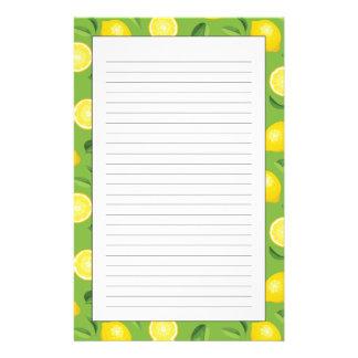 Lemons Background Pattern Stationery