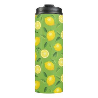 Lemons Background Pattern Thermal Tumbler