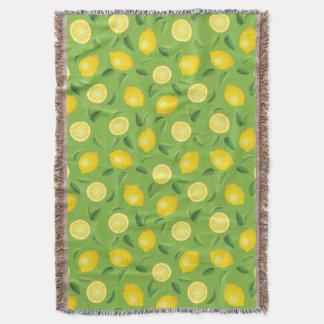 Lemons Background Pattern Throw Blanket