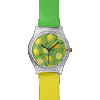 Lemons Background Pattern Watch