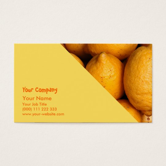Lemons Business Card