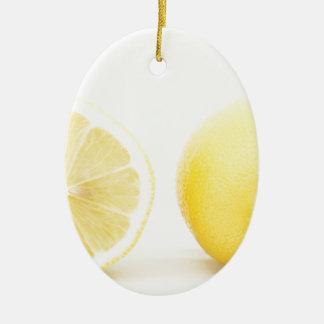 Lemons Ceramic Oval Decoration