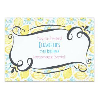 Lemons & Flowers Birthday Lemonade Social Invite