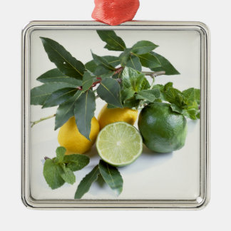 Lemons For use in USA only.) Silver-Colored Square Decoration