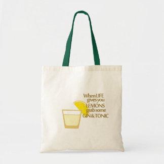 lemons gin and tonic
