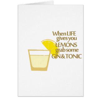 lemons gin and tonic card