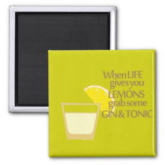 lemons gin and tonic magnet