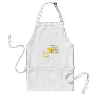 lemons gin and tonic standard apron