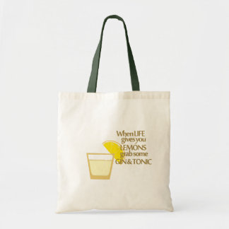 lemons gin and tonic tote bag
