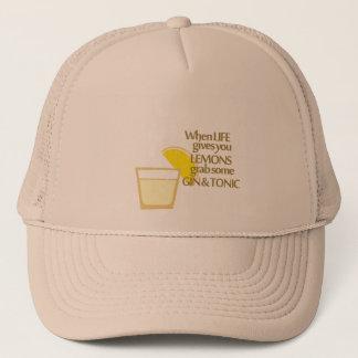 lemons gin and tonic trucker hat