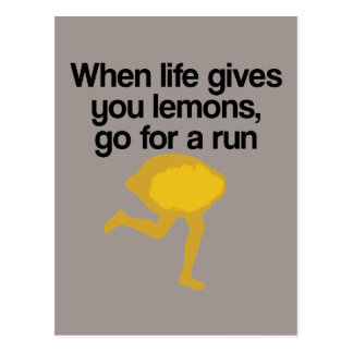 Lemons Go Run Postcard