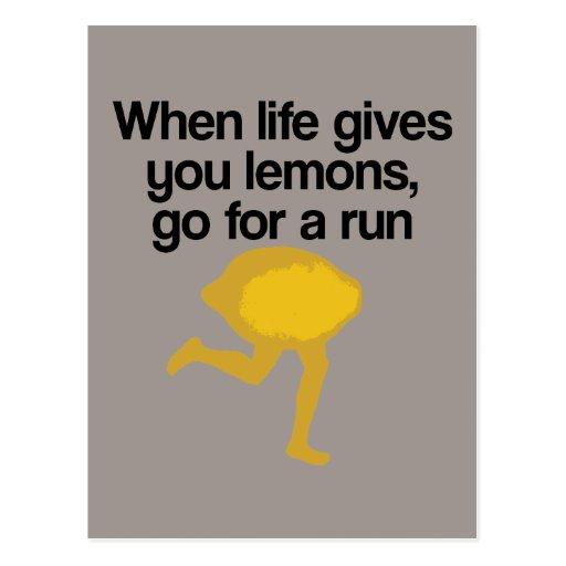 Lemons Go Run Post Cards