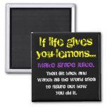 Lemons & Grapes Fridge Magnets