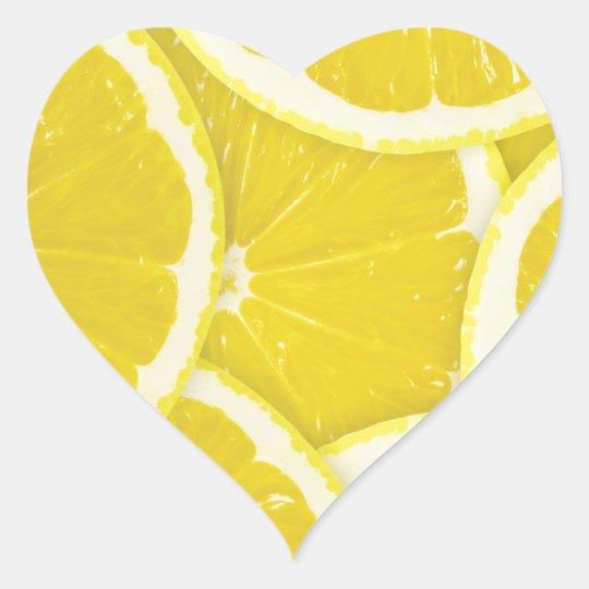 Lemons Heart Sticker