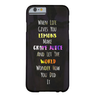 Lemons Inspirational Life Typography Barely There iPhone 6 Case