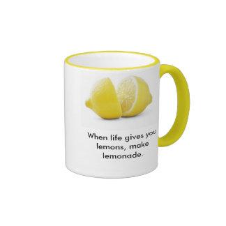 Lemons Lesson ! Coffee Mugs
