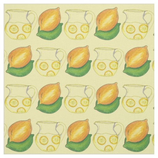 Lemons Limes Lemonade Citrus Fruit Yellow Fabric