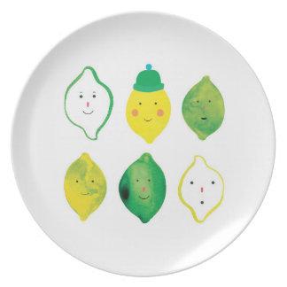 Lemons & Limes Party Plate