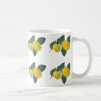 Lemons on a branch mugs