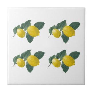 Lemons on a branch tile
