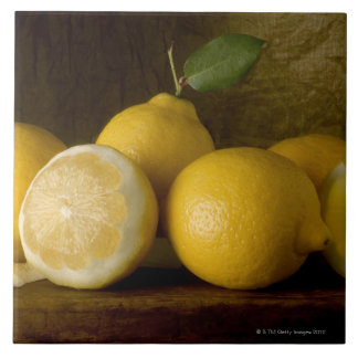 lemons on wood tile