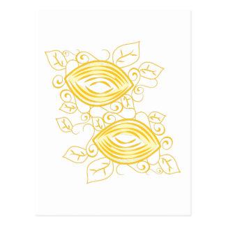 Lemons Outline Postcard