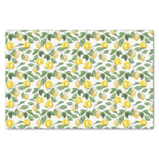 Lemons, plants, floral. Illustration Tissue Paper