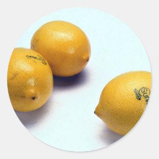 Lemons Round Sticker