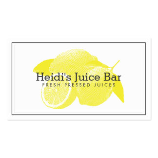 Lemons Screen-Print Illustration Yellow/White Pack Of Standard Business Cards