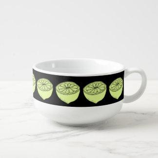 Lemons Soup Bowl With Handle