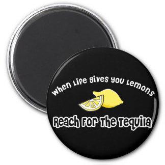 Lemons... Tequila 6 Cm Round Magnet