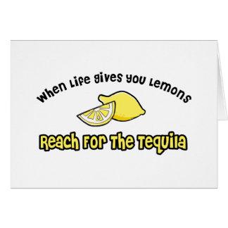Lemons... Tequila Card