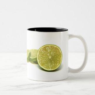lemons, Two-Tone mug
