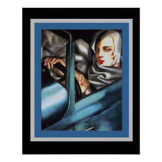 Lempicka Self Portrait Art Deco Poster