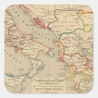 L'Empire d'Orient, l'Italie, 1200 a 1300 Square Sticker