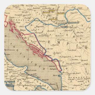 L'Empire Ottoman, la Grece et l'Italie Square Sticker