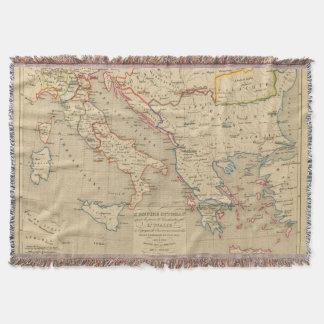 L'Empire Ottoman, l'Italie, 1400 a 1500 Throw Blanket