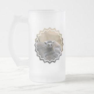 Lemur Baby Frosted Beer Mug