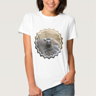 Lemur Baby  Ladies Fitted T-Shirt