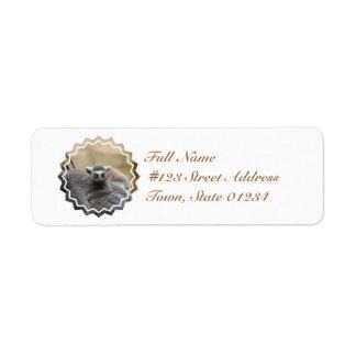 Lemur Baby Return Addres Mailing Label Return Address Label
