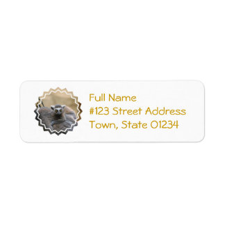 Lemur Baby Return Address Mailing Label Return Address Label