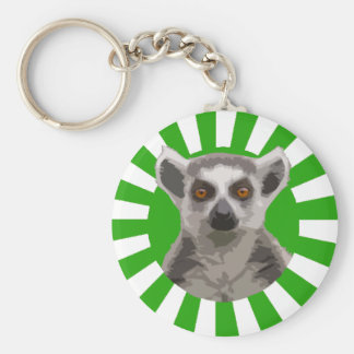 Lemur Basic Round Button Key Ring