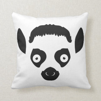 Lemur Face Silhouette Cushion