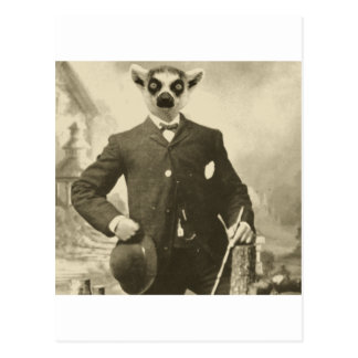 lemur guy postcard