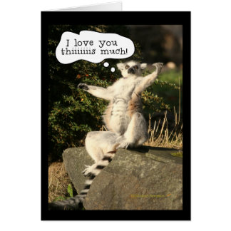 Lemur Love You This Much Funny  Fathers Day Card